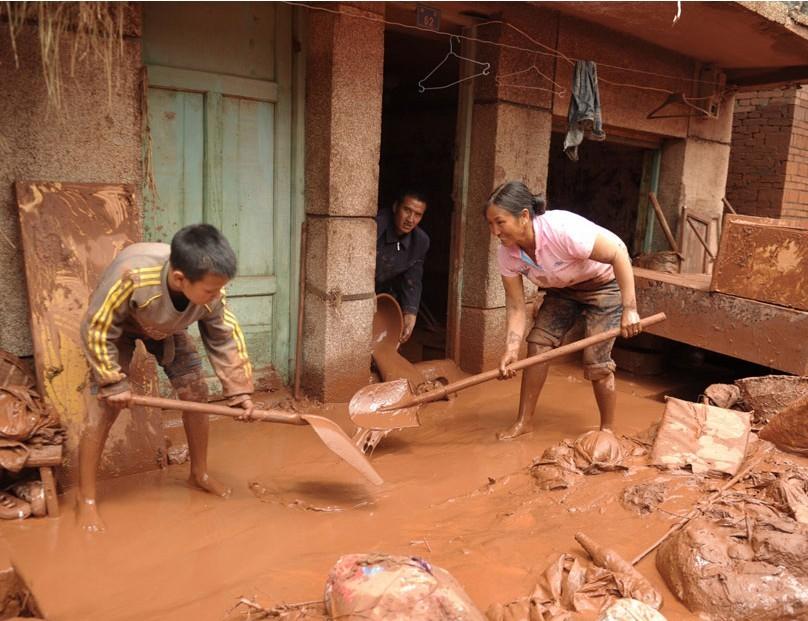 四川泸县再次遭受洪灾袭击 (10)