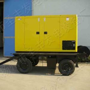 移动4轮120KW低噪音柴油发电机组