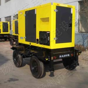 移动式4轮静音柴油发电机组