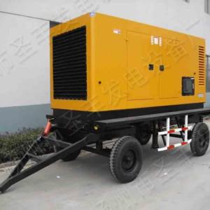 500KW移动式4轮低噪音柴油发电机组