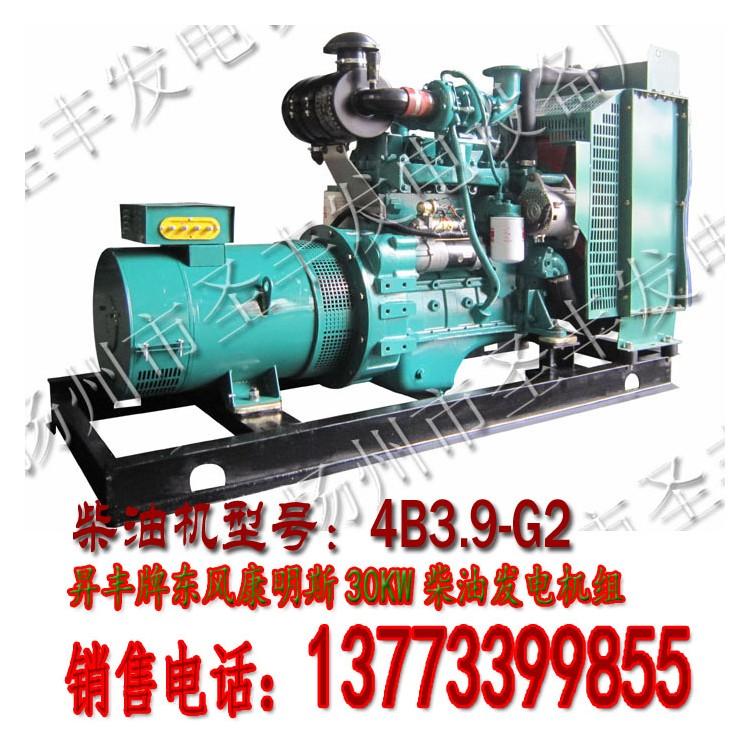 浙江康明斯30KW柴油发电机组