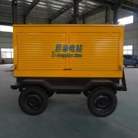 配套100KW柴油发电机组移动拖车价格